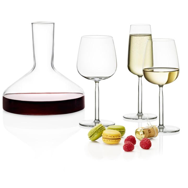 Iittala - Wine Carafe Decanter and Senta Glasses