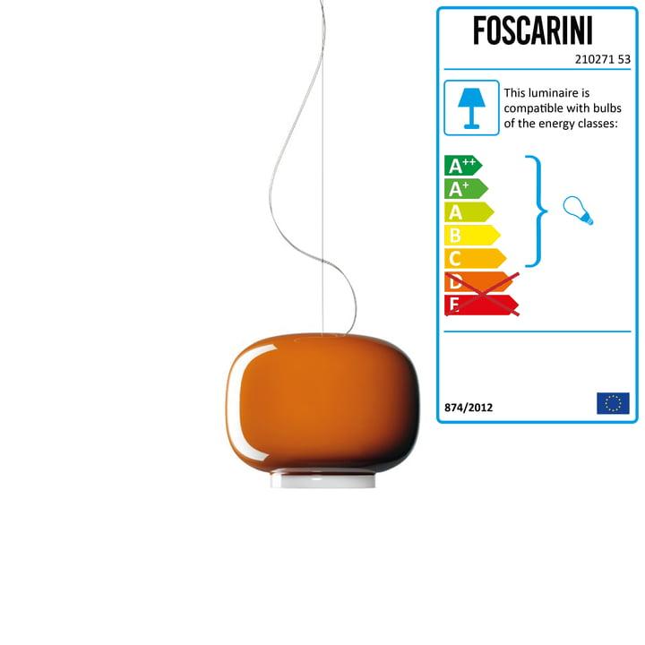 Chouchin Mini 1 by Foscarini in orange