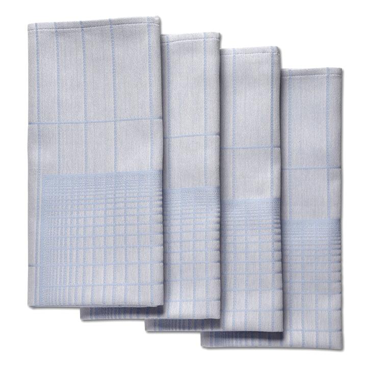 Hay - S&B Napkin Double Grid, blue - 4er-Set