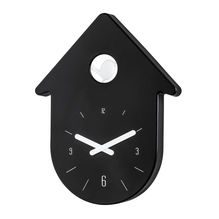 Koziol - Toc-Toc Wall Clock, black / white