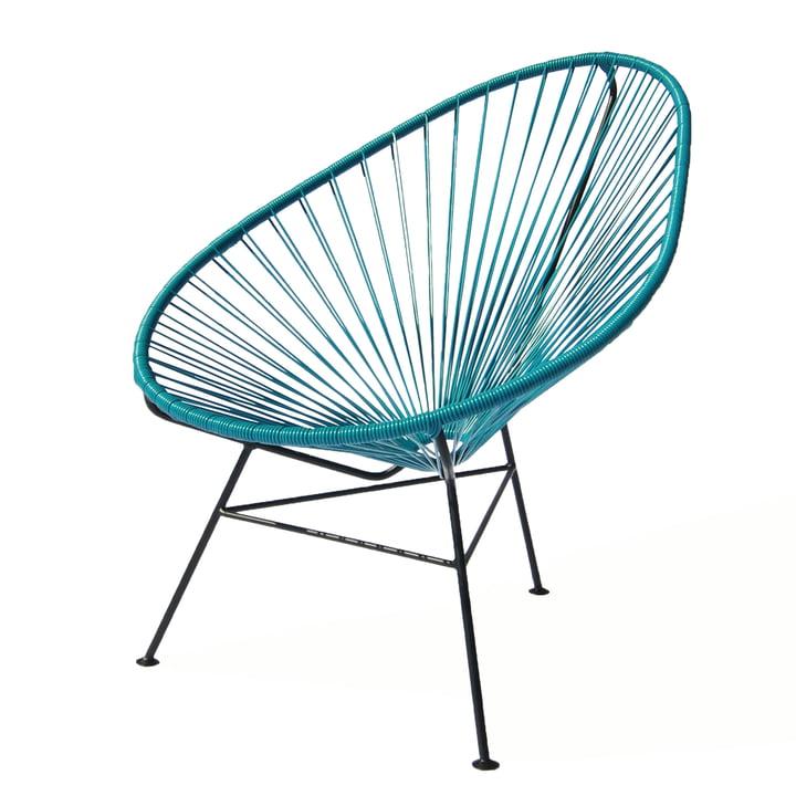 OK Design - The Acapulco Chair, petroleum blue