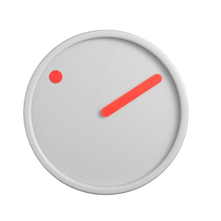 Rosendahl Timepieces - Picto Wall Clock, orange on light grey