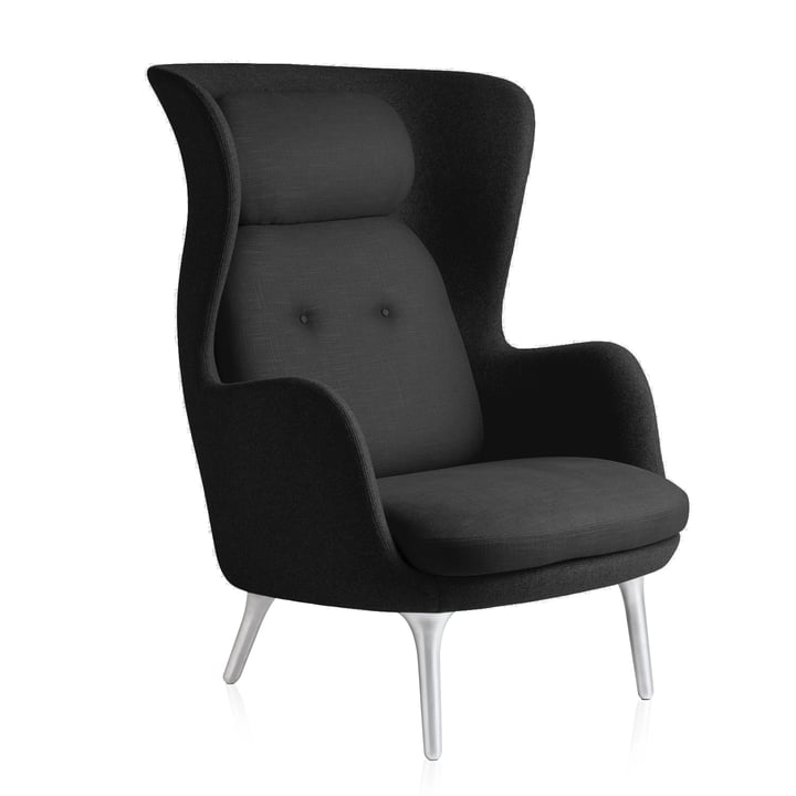 Fritz Hansen - Ro Chair, black / black