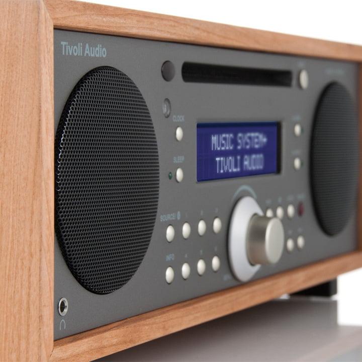 Tivoli Audio - Music System+ BT, cherry / metallic taupe - side