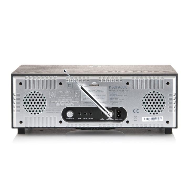 Tivoli Audio - Music System+ BT, black / silver, backside