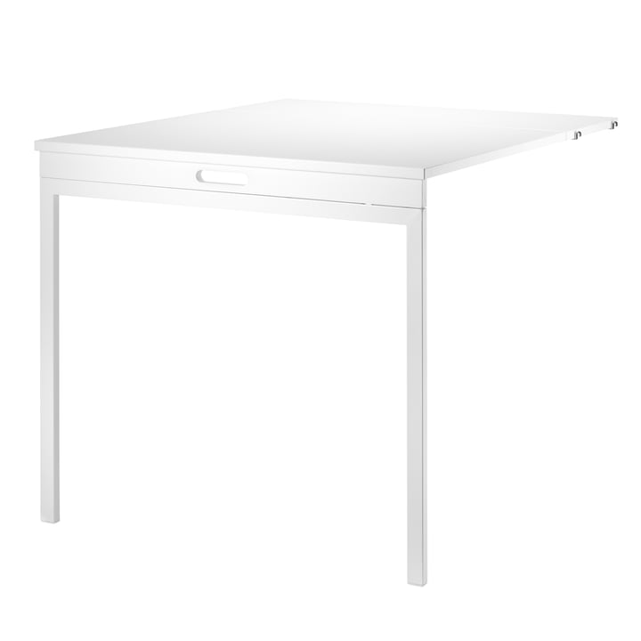 String - Folding table, white / white