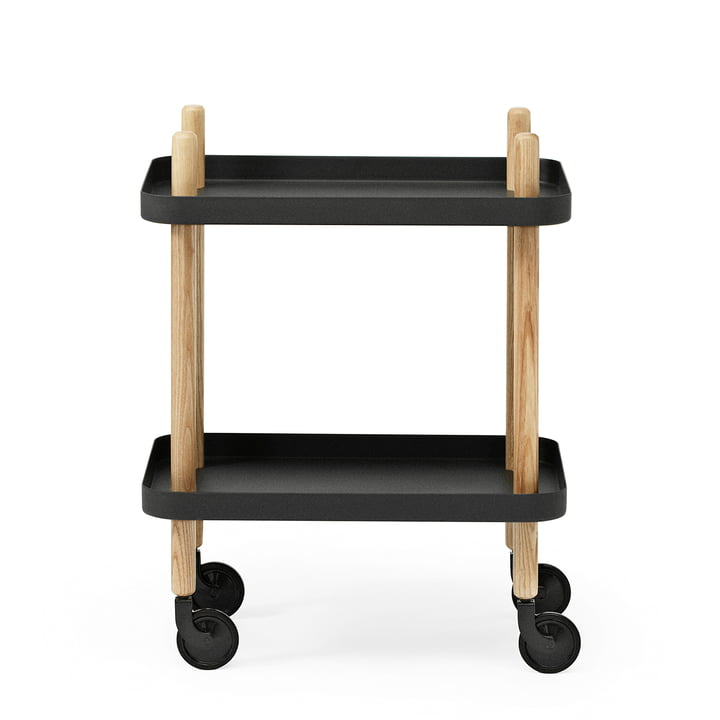 Normann Copenhagen - Block side cart, black - long side