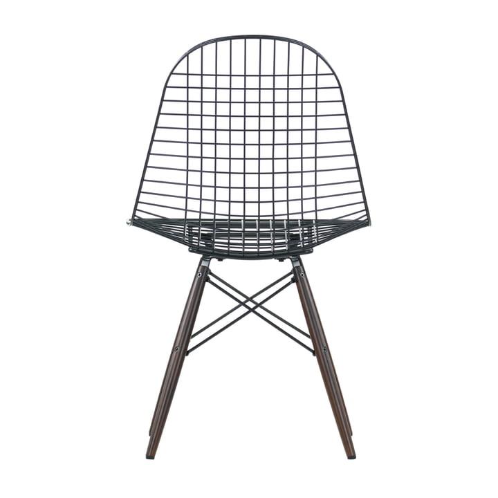 Vitra - Wire Chair DKW, dark maple wood - backside