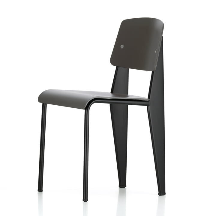 Vitra - Prouvé Standard SP chair, black / basalt