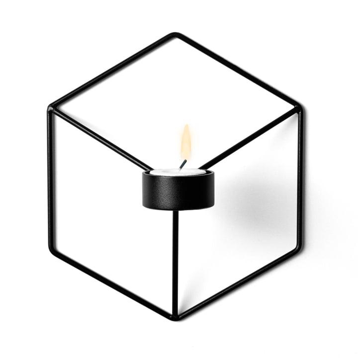 POV Wall Tea Light Holder from Menu in black