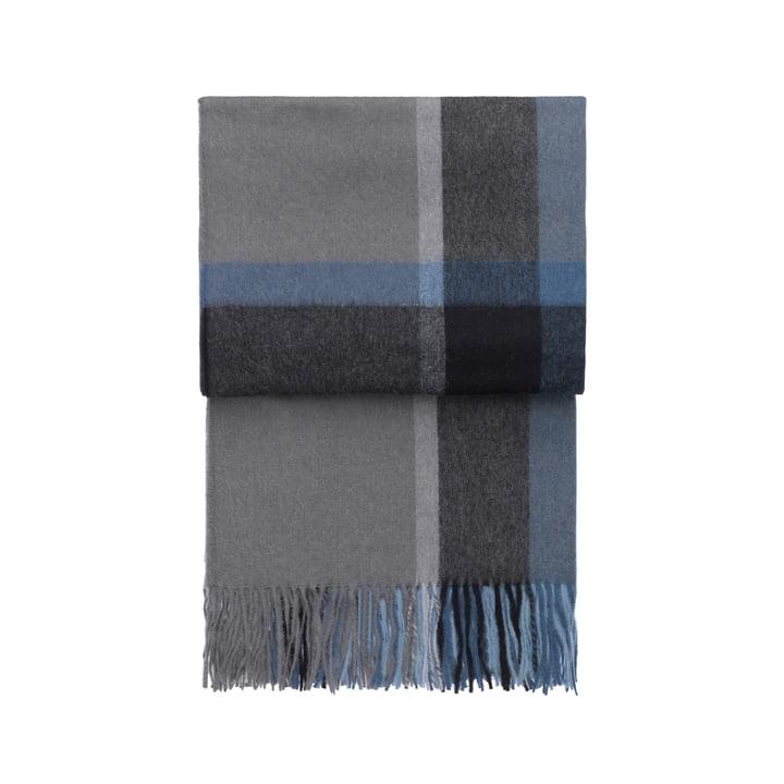 Elvang - Manhattan blanket, steel blue / dusty ocean