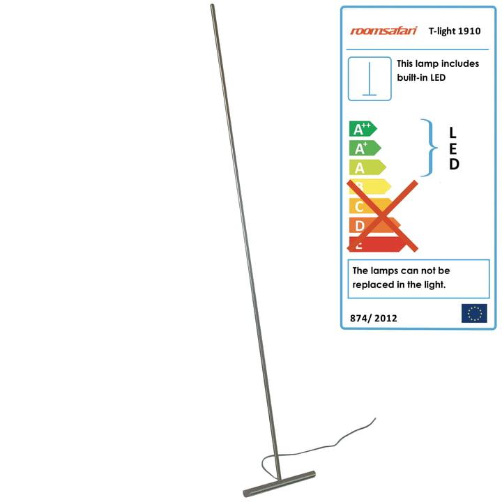 Roomsafari - T-Light lean-lamp, LED warm, aluminium foot