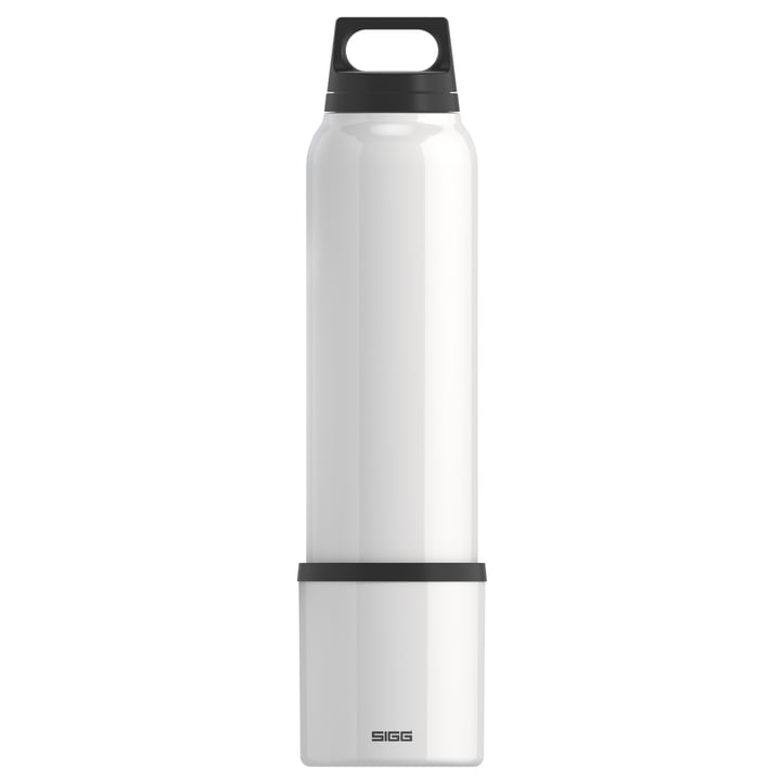 Hot & Cold Thermos bottle 1 l incl. cup from Sigg in white