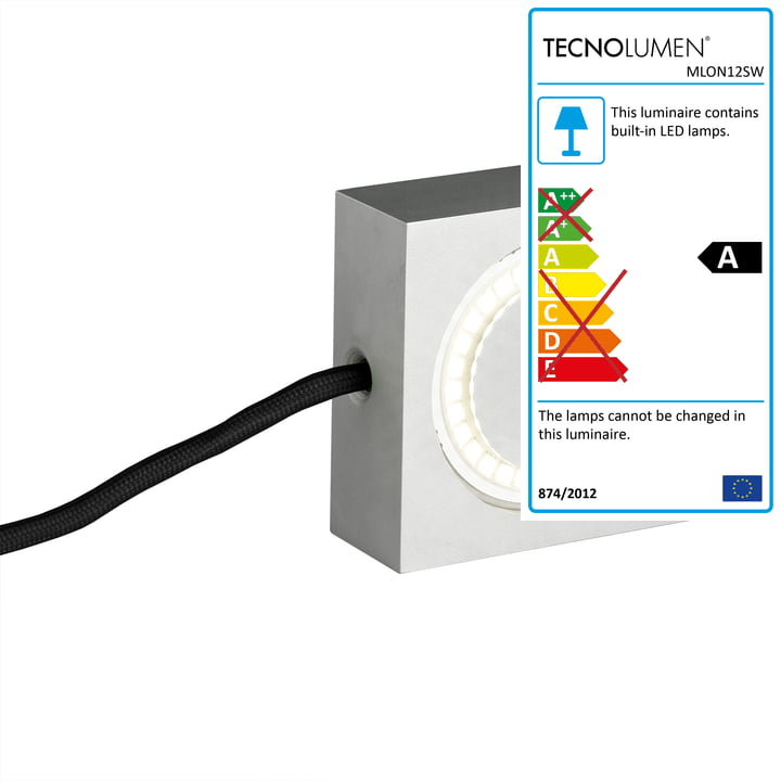 Tecnolumen - Square, black