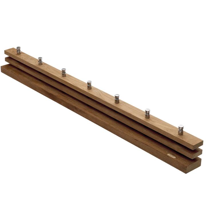 The Skagerak Cutter Coat rail in teak, large