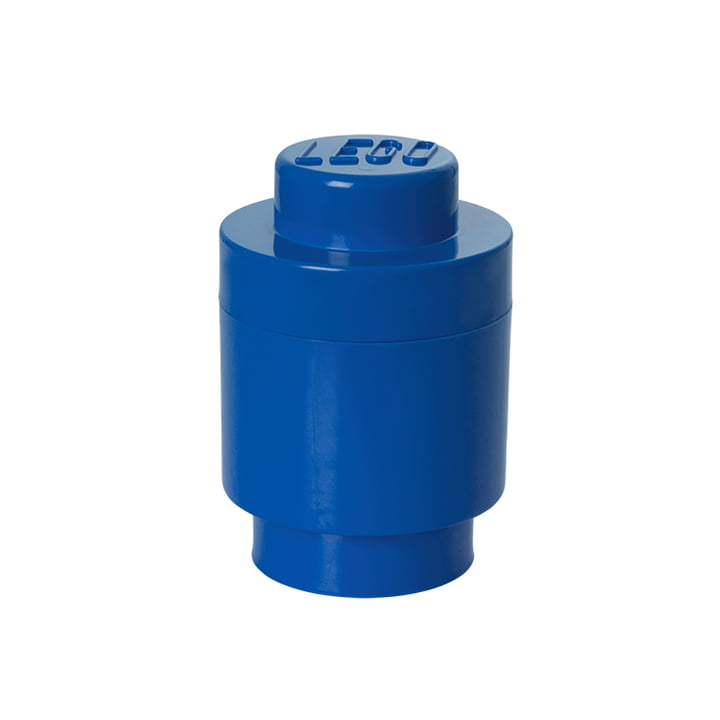Lego - Storage Brick 1 Round, blue