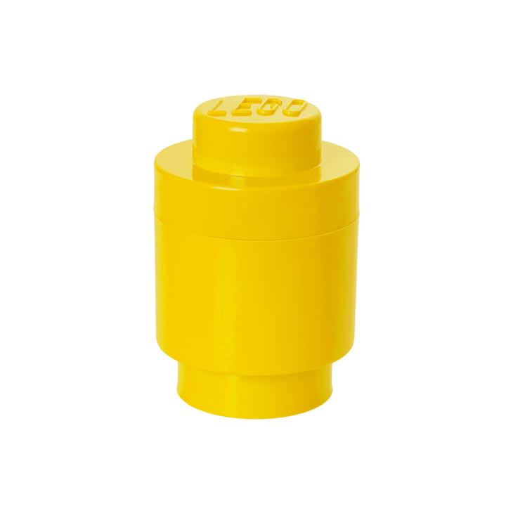 Lego - Storage Brick 1 Round, yellow