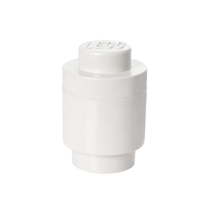 Lego - Storage Brick 1 Round, white