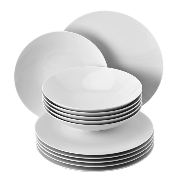 The TAC Gropius table set from Rosenthal consists of 12 pieces