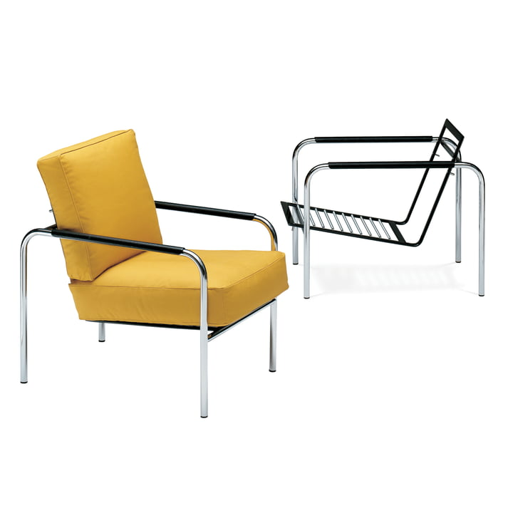 Zanotta - Susanna Armchair, yellow - with and without cushion