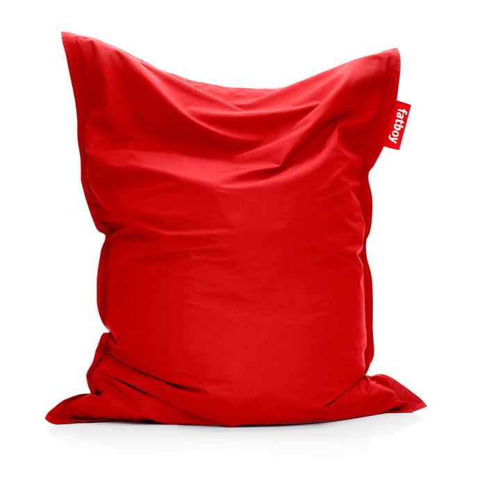 Original Outdoor Beanbag in red cytrus from Fatboy