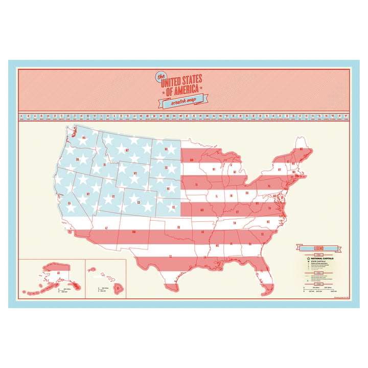 Luckies - Scratch Map USA
