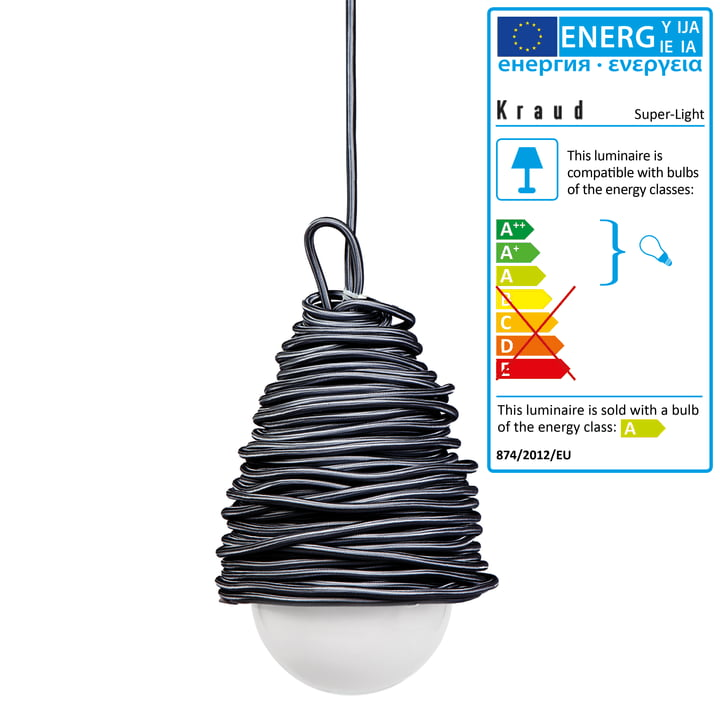 Kraud - Super-Light Classic Lamp, dark grey