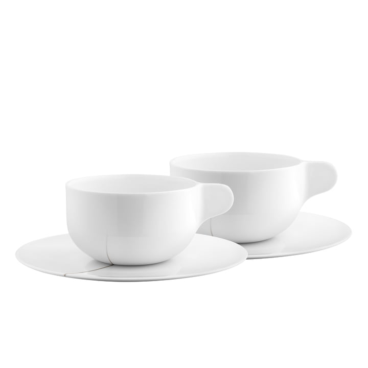 Georg Jensen - Tea with Georg teacup with saucer set of 2