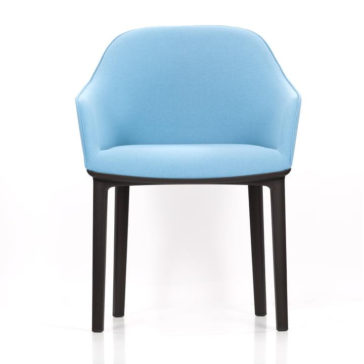 Vitra - Softshell Chair, plano, ice-grey frontal