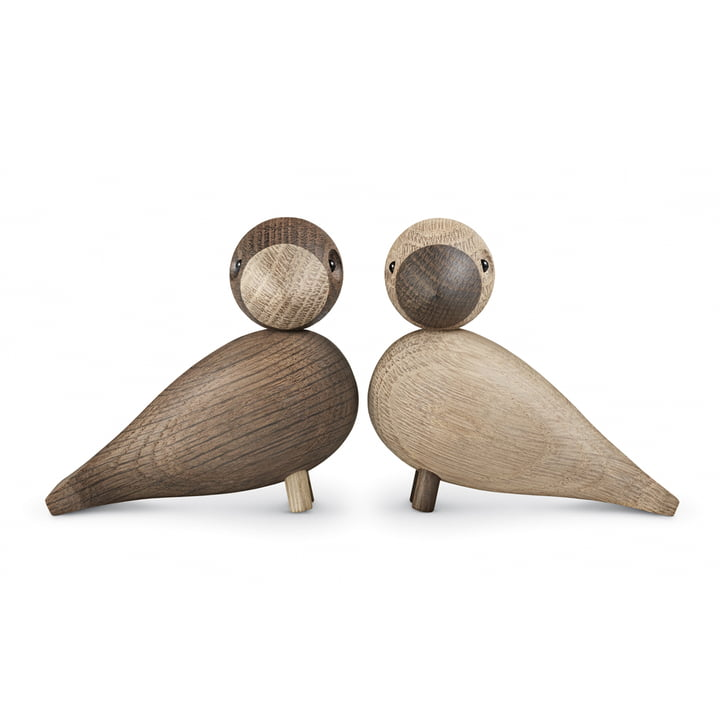 Kay Bojesen - Lovebirds set of 2, wooden parrots