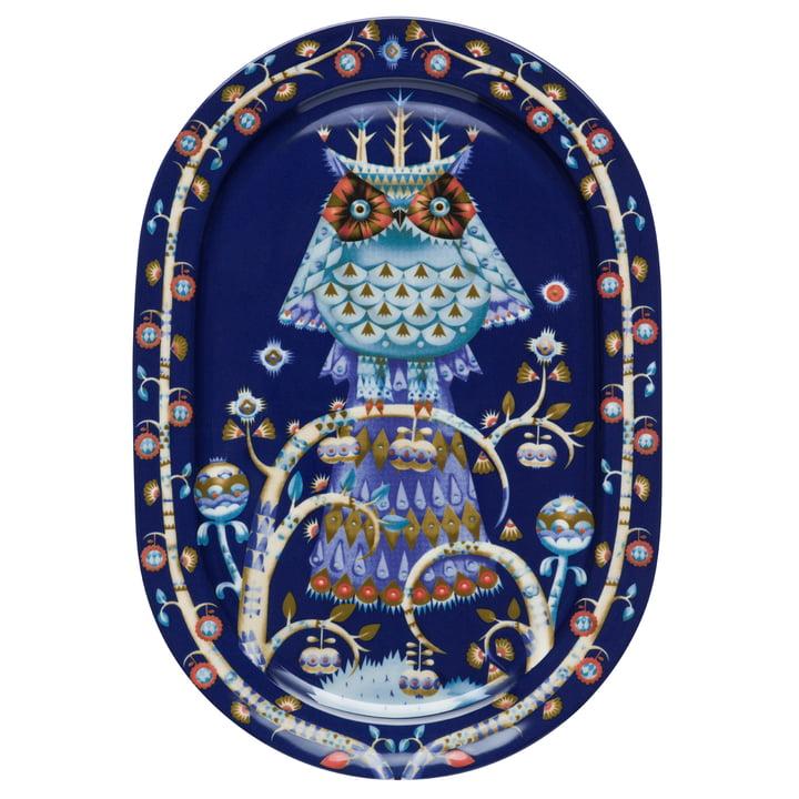 Iittala - Taika serving plate oval, blue 41 cm