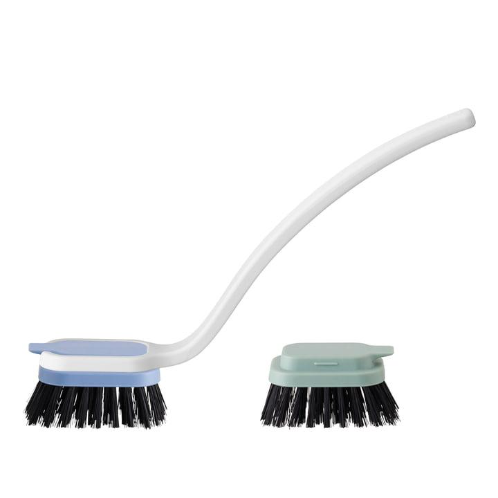 Rig-Tig by Stelton - Sink-Caddy dishwashing brush, blue / green