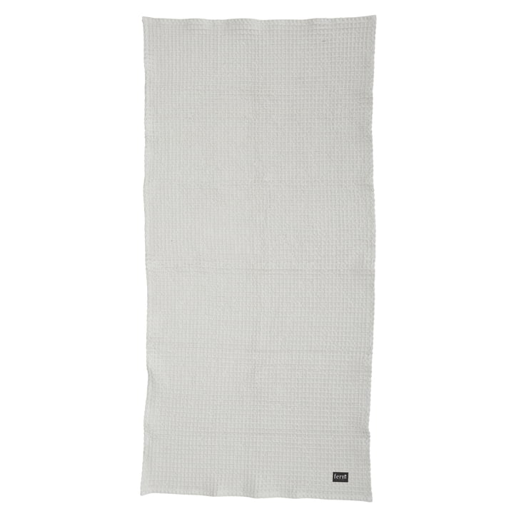 Organic bath towel 70x140 cm in light grey by Ferm Living