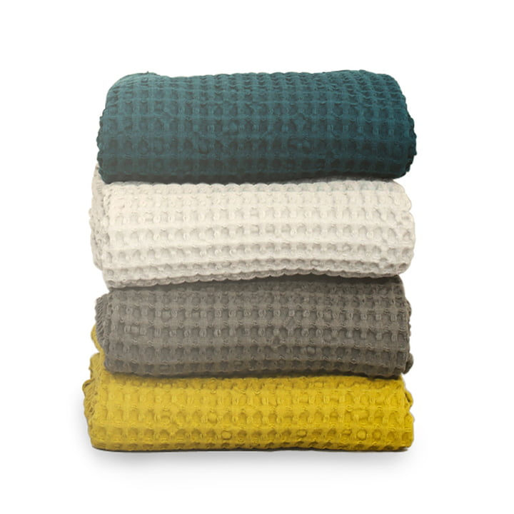 Organic bath towels by Ferm Living in different colours