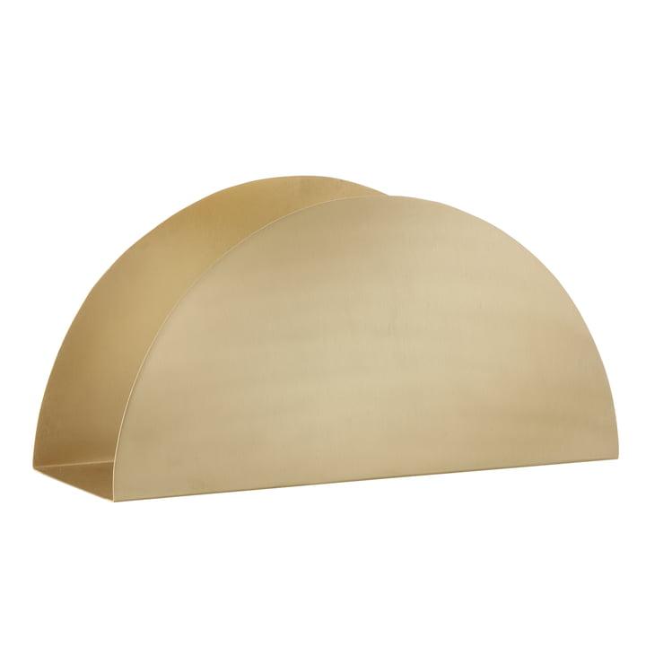ferm Living - Brass Semicircle paper holder - oblique