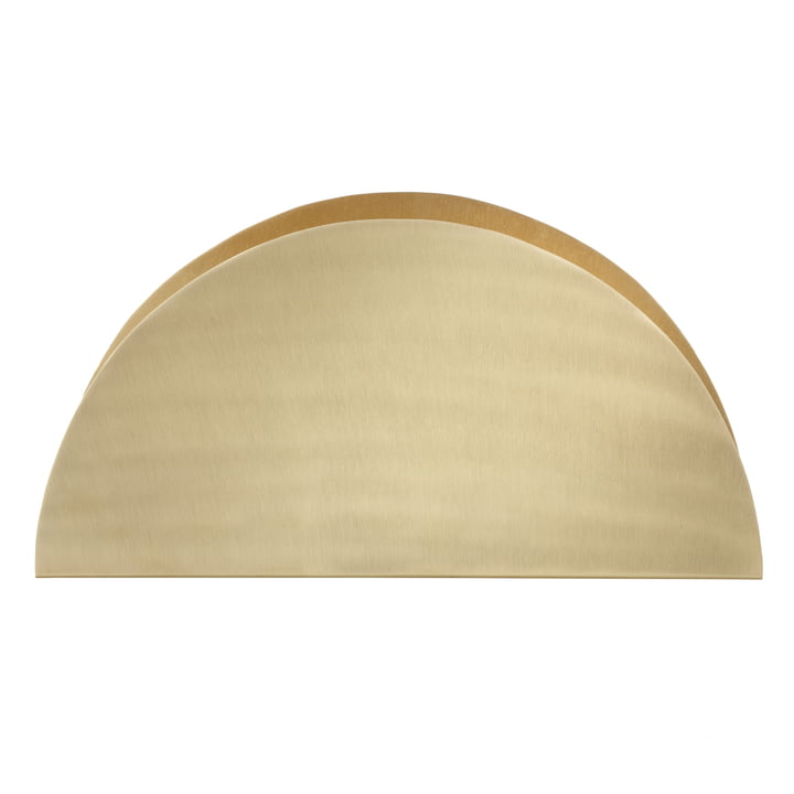 ferm Living - Brass Semicircle paper holder - front