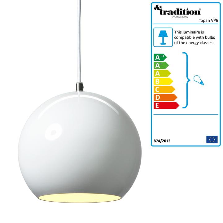 &Tradition - Topan Pendant Lamp, white