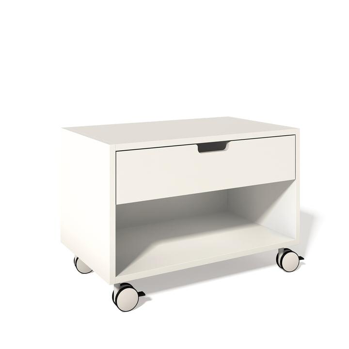 Müller Möbelwerkstätten - Bedside table Modular, white 9010
