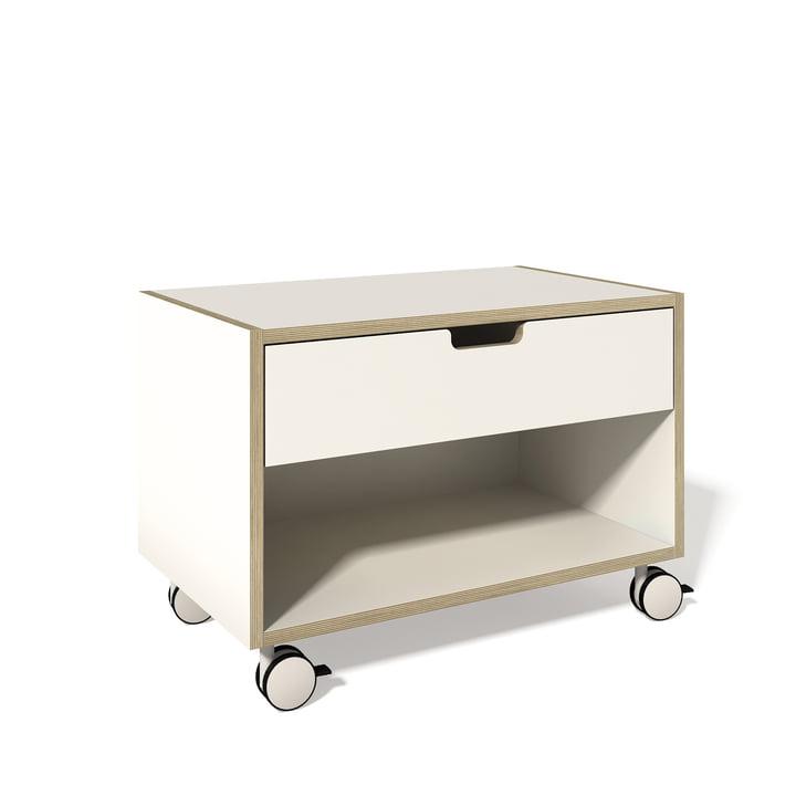 Müller Möbelwerkstätten - Bedside table Modular, white
