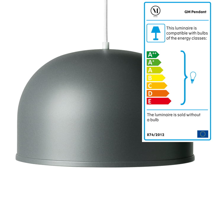 Menu - GM 30 Pendant Light, basalt grey