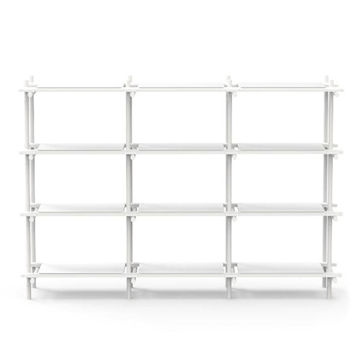 Menu - Stick System, shelf, white / white, 3 x 4