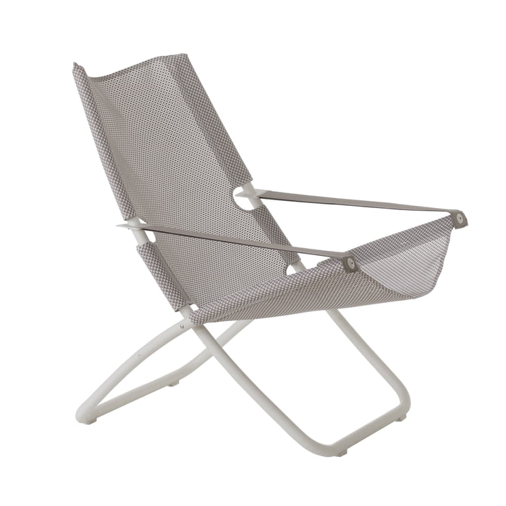 Snooze Deckchair from Emu in white / ice