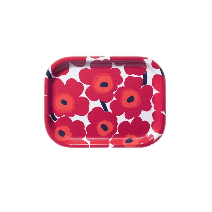 Marimekko - Mini-Unikko Tray 27 x 20 cm, white / red