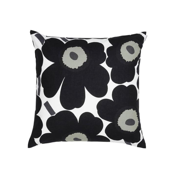 Pieni Unikko 50 x 50 cm cushion cover from Marimekko in white / black