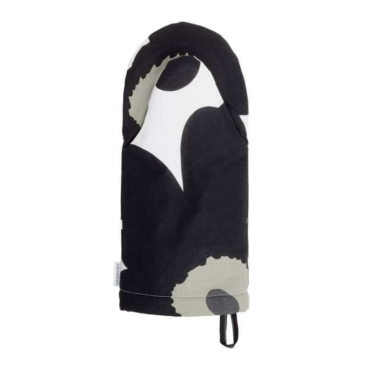 Pieni Unikko oven glove from Marimekko in white/ black/ olive