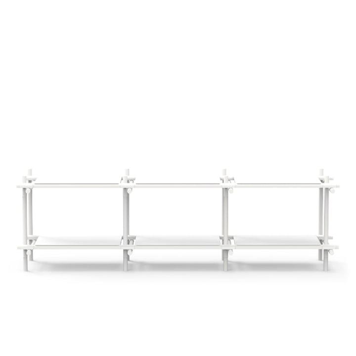 Menu - Stick System, shelf, white / white, 3 x 2