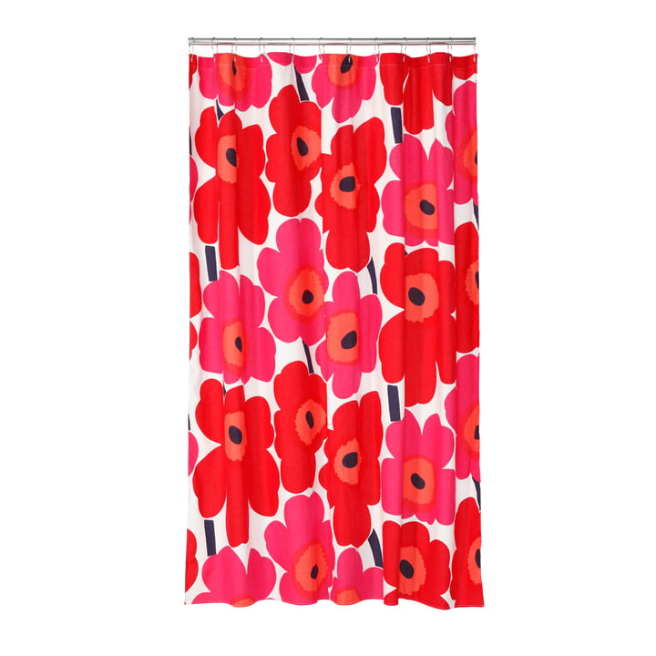 Marimekko - Unikko Shower Curtain, white / red