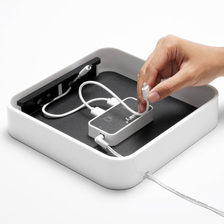 Bluelounge - Sanctuary4 USB charging station, inside, white