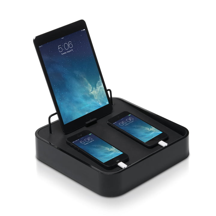 Bluelounge - Sanctuary4 USB charging station, black