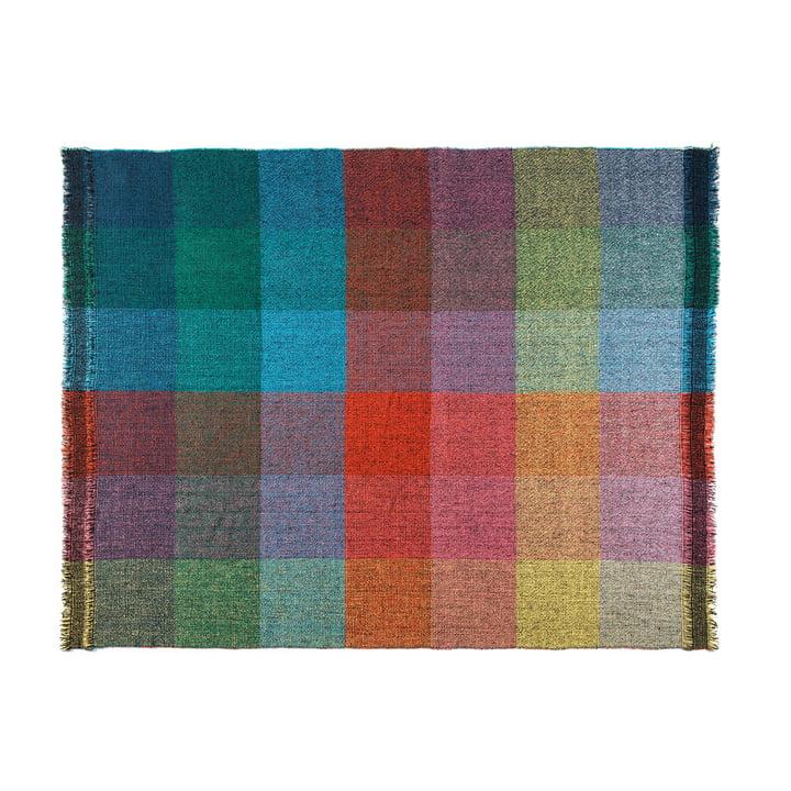 Zuzunaga - Dark Squares woollen blanket, 140 x 180 cm